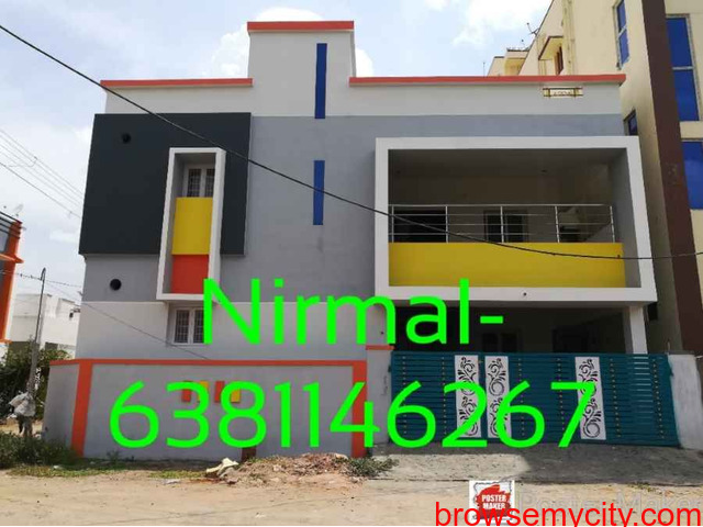 2 portion 2Bhk House for sale in saravanampatti, near Sms mahal. - 1/1