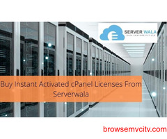 Buy Instant Activated cPanel Licenses From Serverwala