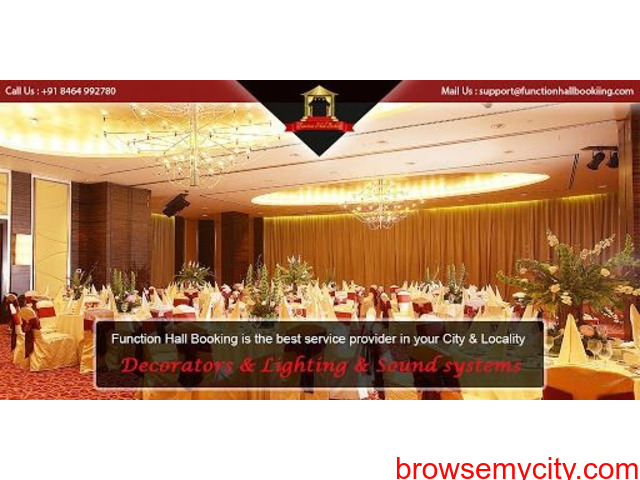 Function Hall Booking - 1/1