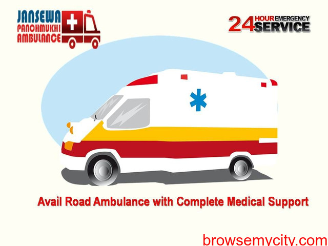 Avail Comfy Patient Shifting by Jansewa Panchmukhi Ambulance Service in Ranchi - 1/1