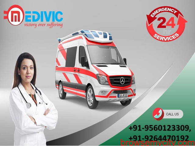 Book Medivic Ambulance Service in Muzaffarpur at a Very Genuine Cost - 1/1
