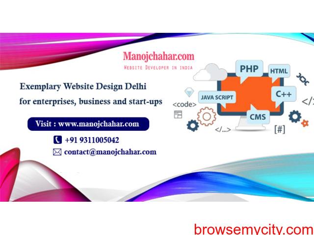 Exemplary Website Design Delhi from Website Designer in Delhi - 1/1