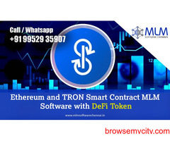 Ethereum and TRON Smart Contract MLM Software with DeFi Token-MLM software chennai