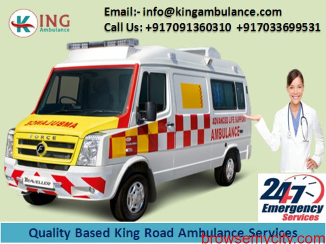 Instant Ground Ambulance Service in Bokaro by King Ambulance - 1/1