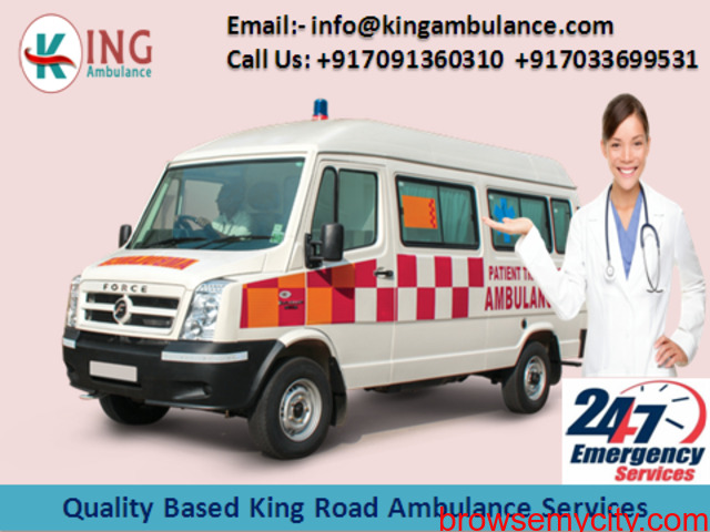 Advanced Emergency Ambulance Service in Dhanbad at Low-Fare by King - 1/1