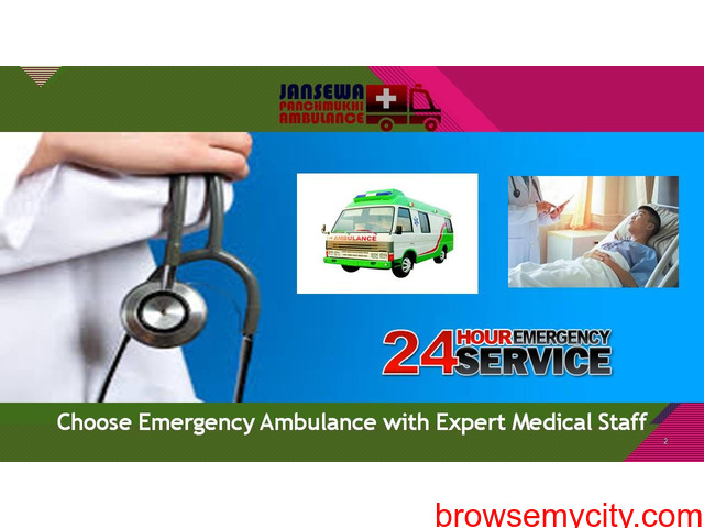 Take Most Comfortable Road Ambulance Service in Dumka with ICU Specialist - 1/1