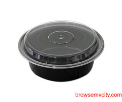 Round Containers with Lids