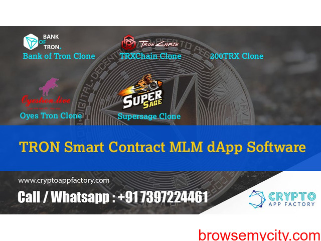 Tron Trx Smart Contract MLM Dapp Software-Crypto app factory - 1/1