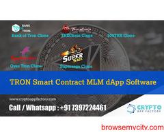 Tron Trx Smart Contract MLM Dapp Software-Crypto app factory