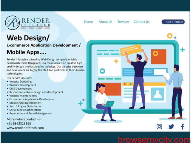 RENDER INFOTECH: Best Website and App development company in bangalore - 5/6