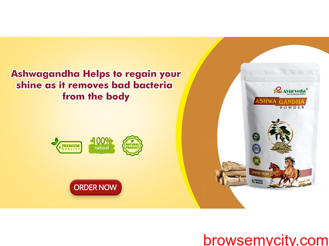 Ashwagandha Helps to regain your shine as it removes bad bacteria from the body - 1/1