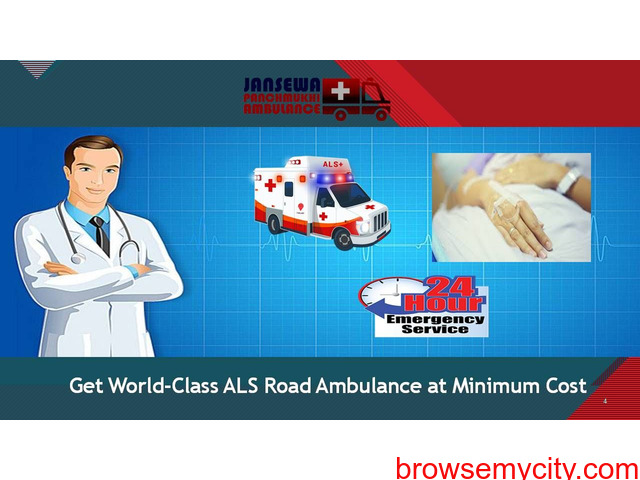Use Ambulance Service in Buxar with Upper-Class Healthcare Support - 1/1