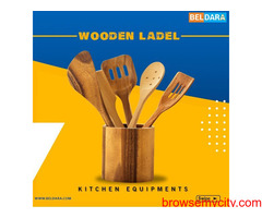 Get wooden ladel Kitchen Equipment with 100% Payment Protection