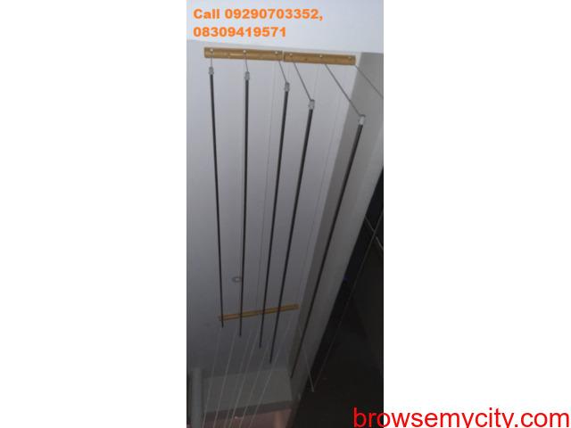 Call 8309419571 for cloth drying hanger near AS Raju Nagar, Kukatpally, MNR School, Kukatpally - 2/6
