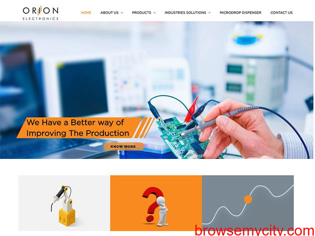 Contact Welding Automation System Provider in India - Orion Electronics - 1/1