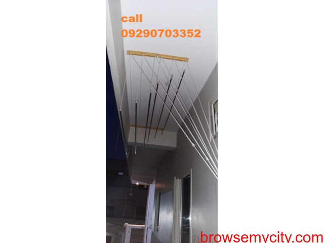 Call 09290703352 for Washed Clothes Drying Hanger in Nizamabad, Roof Hanger Nizamabad, - 1/6