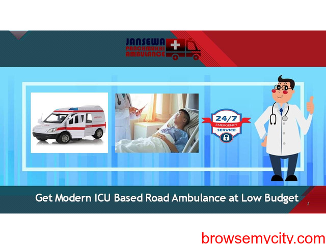 Avail Safe Patient Shifting from Gandhi Maidan by Jansewa Panchmukhi Ambulance - 1/1