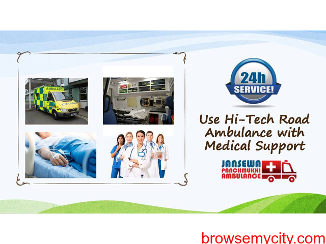 Hire Now Ambulance Service in Kidwaipuri with Experienced Physician - 1/1