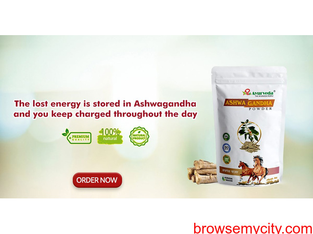 The lost energy is stored in Ashwagandha and you keep charged throughout the day - 1/1