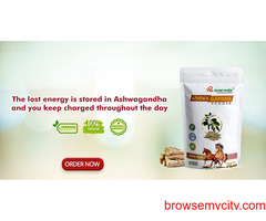The lost energy is stored in Ashwagandha and you keep charged throughout the day