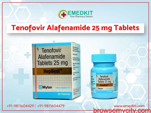 Tenofovir Alafenamide 25 mg Tablets Price in India - 1/1