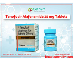 Tenofovir Alafenamide 25 mg Tablets Price in India
