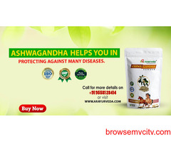 Ashwagandha helps you in protecting against many diseases