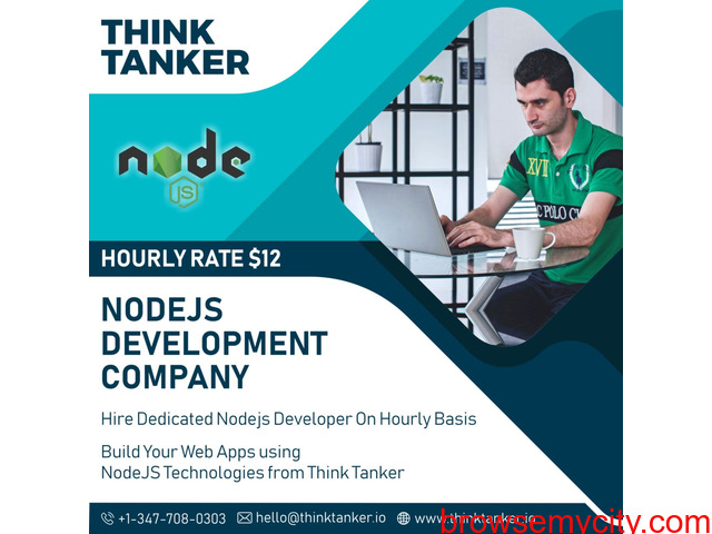 Hire NodeJs Developer Bangalore, Ahmedabad, Pune, Mumbai - ThinkTanker - 1/1