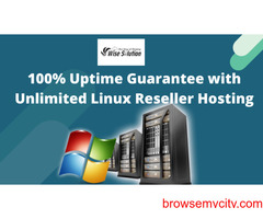 Get 100% Uptime guarantee with Unlimited Linux Reseller Hosting