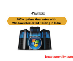100% Uptime Guarantee with Windows Dedicated Hosting in India