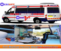 High-Level Emergency Ambulance Service in Varanasi by Medilift