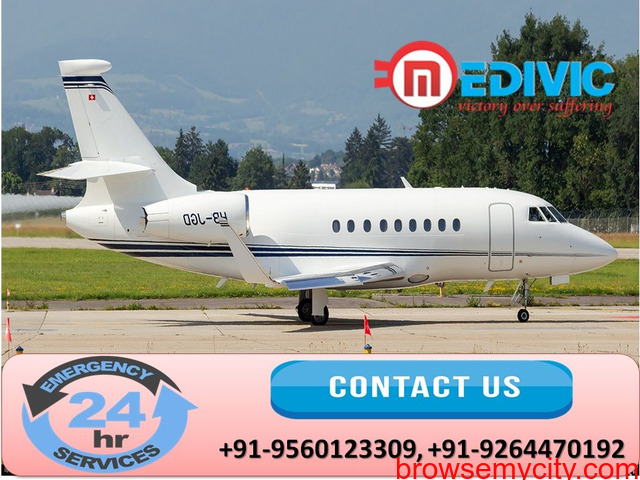 Gain Authentic Life-Support Air Ambulance in Guwahati by Medivic - 1/1