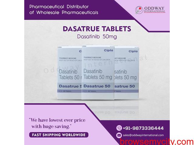 Buy Dasatrue Dasatinib 50mg tablets Online in India - 1/1