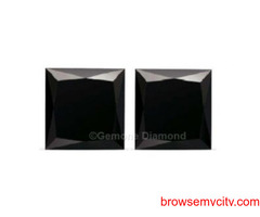 Princess-Cut Black Diamond 10% OFF Online Sale OFFER