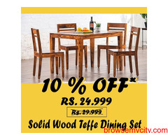 Solid Wood Furniture, Delivery All India, Lifetime Warranty