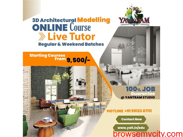 3D ARCHITECTURAL MODELLING ONLINE COURSE WITH LIVE TUTOR - 1/1
