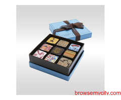 Brown Chocolate Overlapping Lid Box