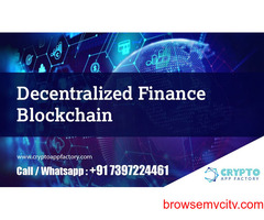 Decentralized Finance Blockchain-Crypto App Factory