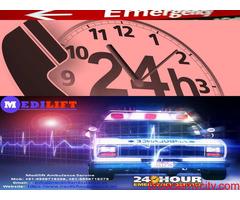 Hi-Tech Emergency Ambulance in Buxar by Medilift Ambulance