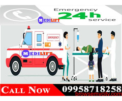 Now Book Medilift Low-Cost Ambulance in Gaya with Doctor