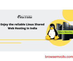 Enjoy the reliable Linux Shared Web Hosting in India