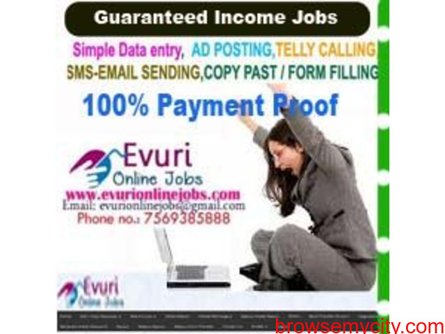 Home Based Computer Typing job, Home Based Data Entry Operator, Data Entry - 2/3