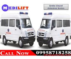 Use Medilift ICU Road Ambulance Service in Dhurwa, Ranchi at the Minimum Budget