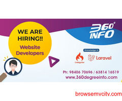 We are hiring for Web/PHP (laravel or codeigniter) developer