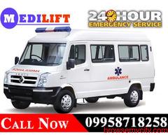 Use Medilift ICU Road Ambulance Service in Doranda, Ranchi with ICU Facility
