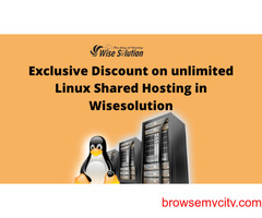 Exclusive Discount on unlimited Linux Shared Hosting in Wisesolution