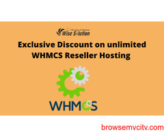 Exclusive Discount on unlimited WHMCS Reseller Hosting in Wisesolution