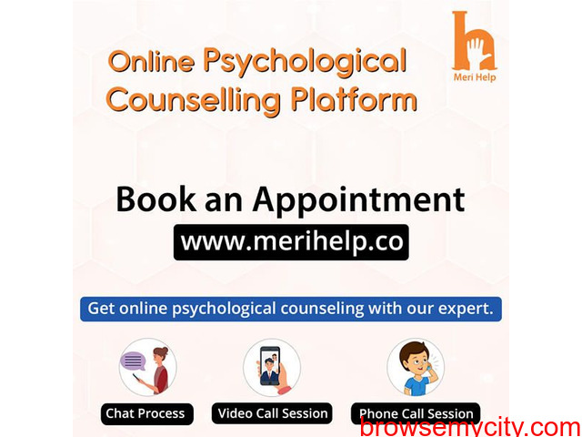 Book an Appointment with a psychologist to get Online Psychological counselling. - 1/1