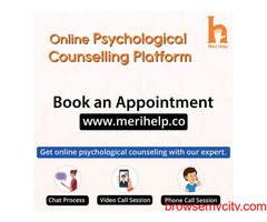Book an Appointment with a psychologist to get Online Psychological counselling.