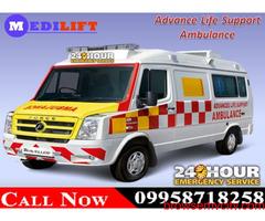 Use Medilift ICU Road Ambulance Service in Kanke, Ranchi at the Minimum Cost